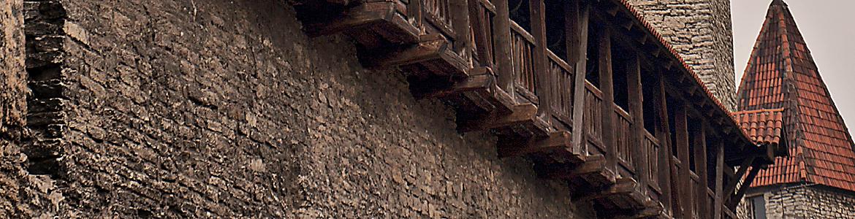 Kościół Oleviste i mur twierdzy