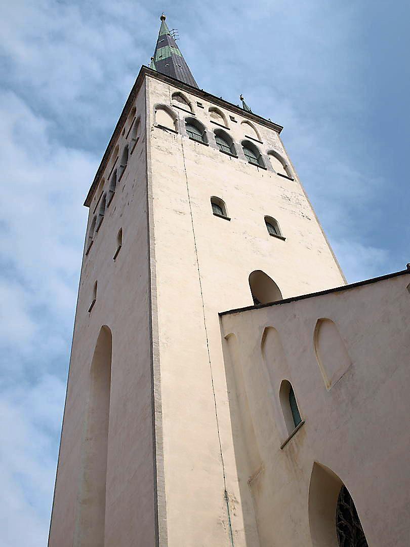 Oleviste kirik ja Tallinna linnamüür